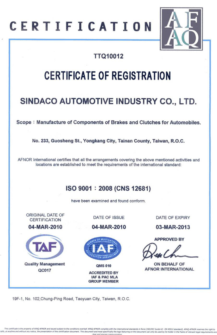 Sindaco automotive industry co ltd our motto there is a better way quality is the first the best salesman is good quality yadclub Choice Image